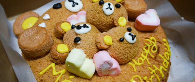 拉拉熊造型戚風蛋糕in高雄左營甜室DIY烘培室